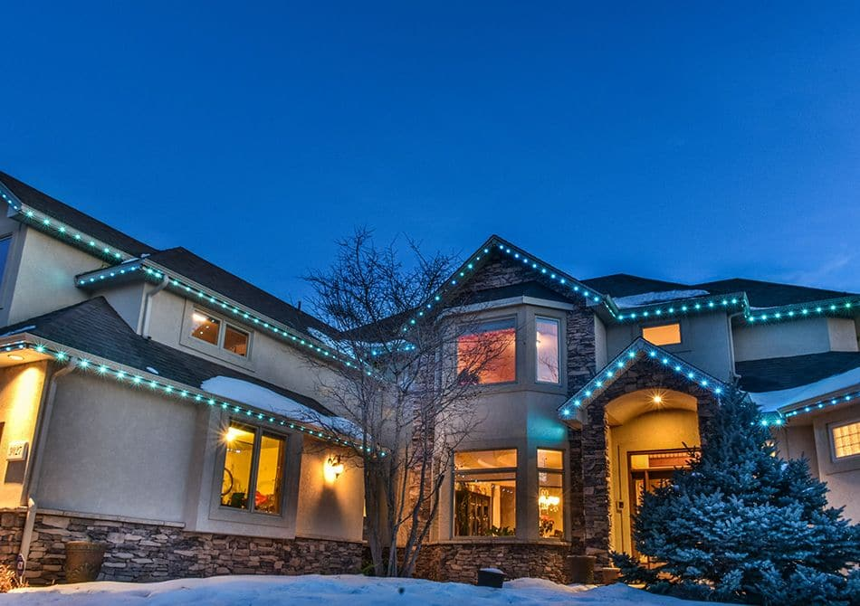 Permanent holiday lights can change to whatever color or combination of colors you like.