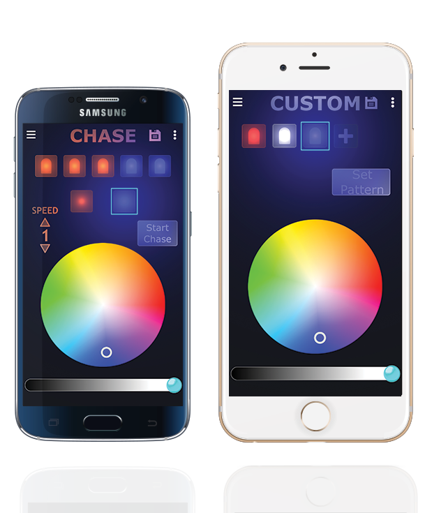 The custom Oelo app offers limitless lighting settings on your favorite smart device.