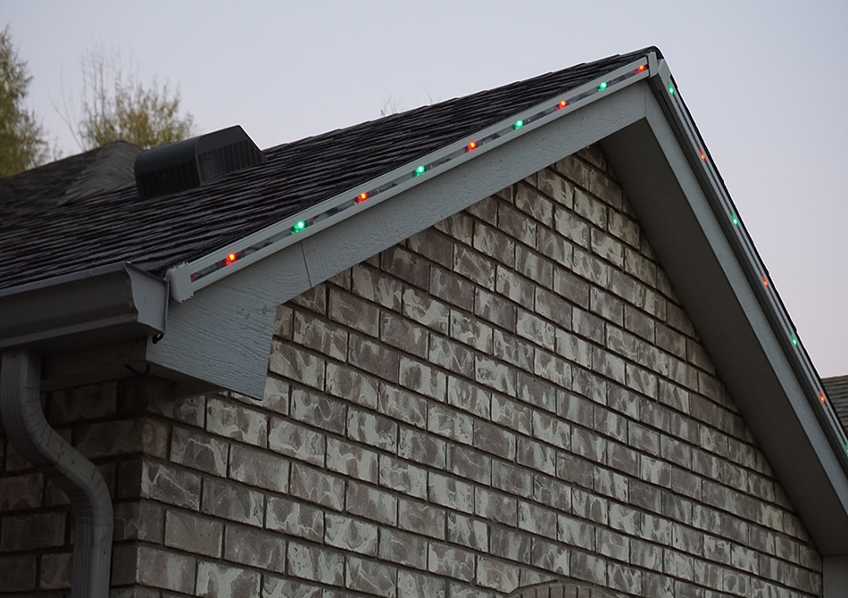 our permanent christmas lights channel blends into the fascia of your home or business
