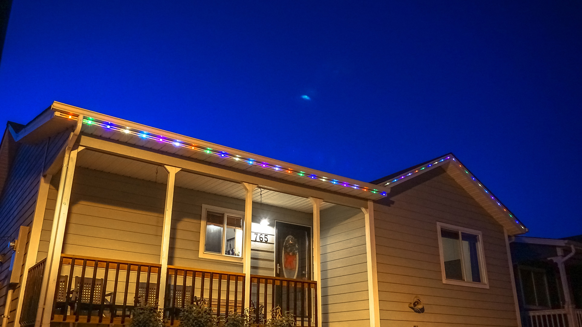 Permanent Christmas Lights On A Charming Single Family Home In Colorado.