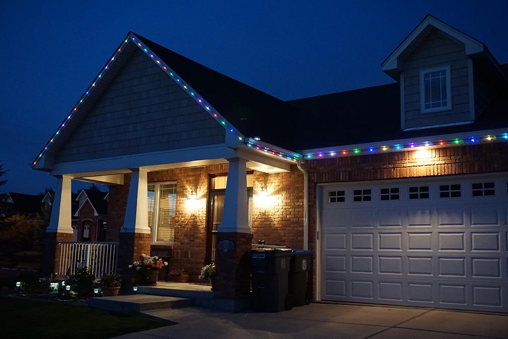 permanent outdoor led lighting creates eye catching glow
