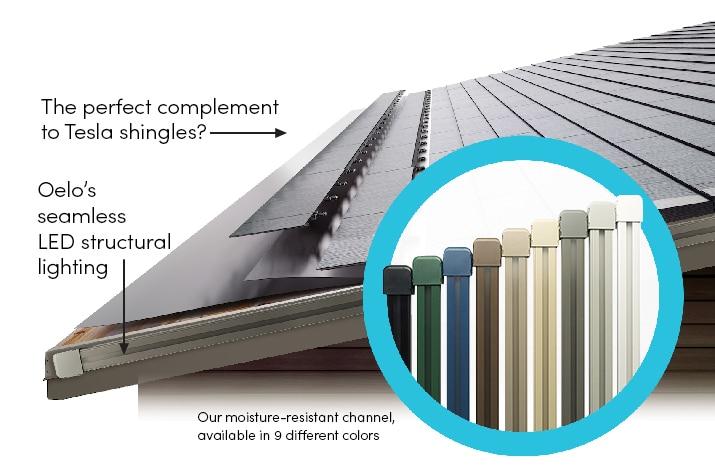 For Tesla Electric Car & Tesla Solar Roof Owners | Oelo Smart Holiday Lighting